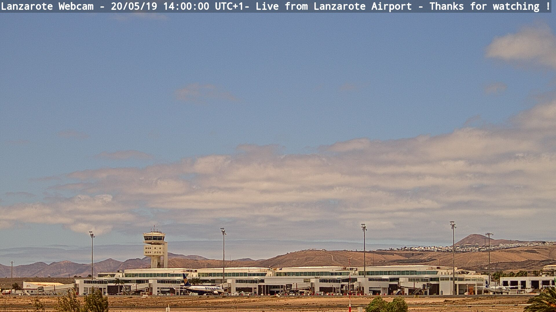 Snapshot from airport webcam