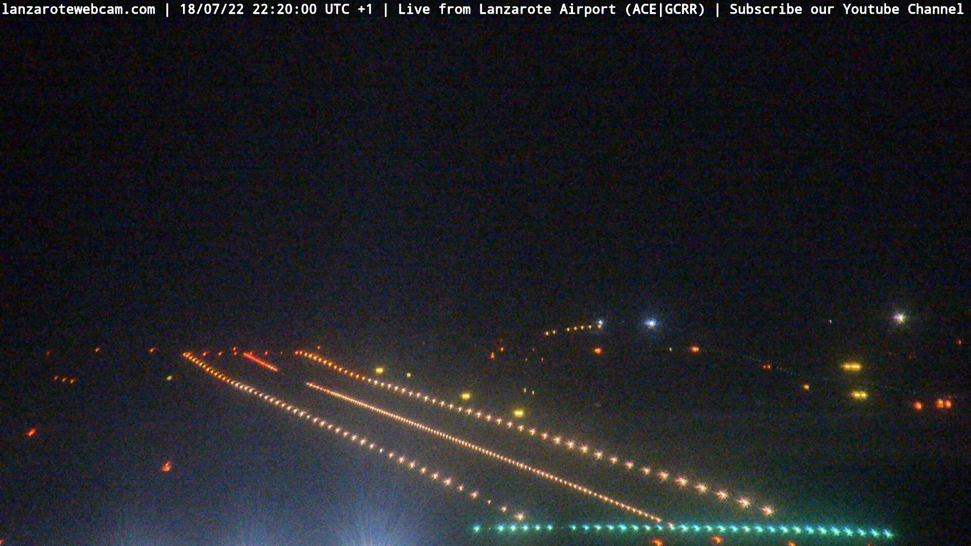 Snapshot from Lanzarote Airport webcam, https://lanzarotewebcam.com
